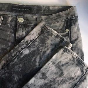 Rock & Republic Black Gray Tux Skinny Jeans